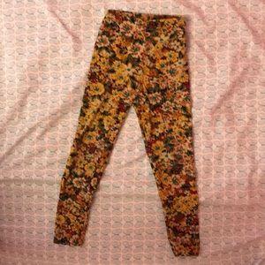 Lularoe Floral Leggings.Girl's S/M